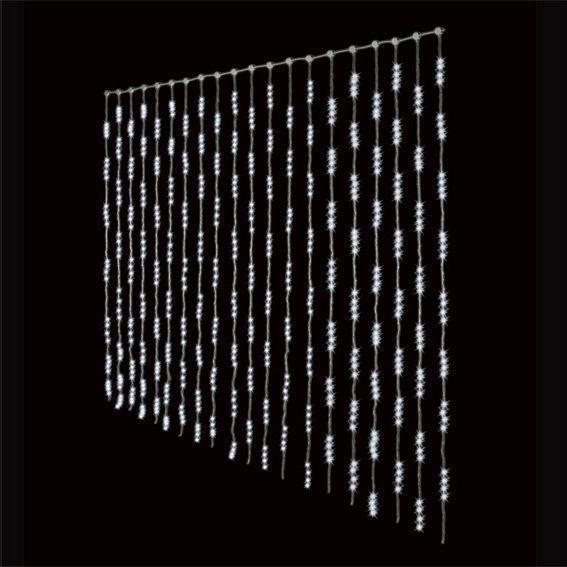 Rideau lumineux H3 m Blanc froid 1280 LED  Guirlande lumineuse  Eminza