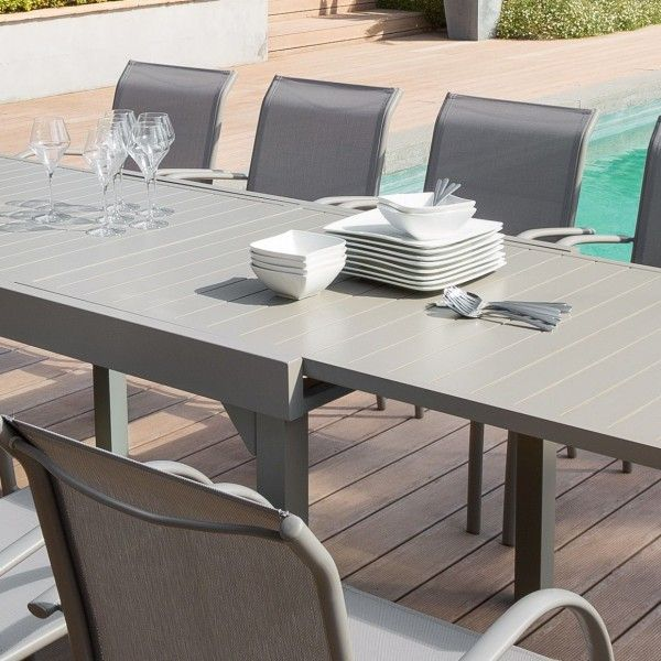 Beautiful Table De Jardin Extensible En Alu Contemporary - Amazing ...