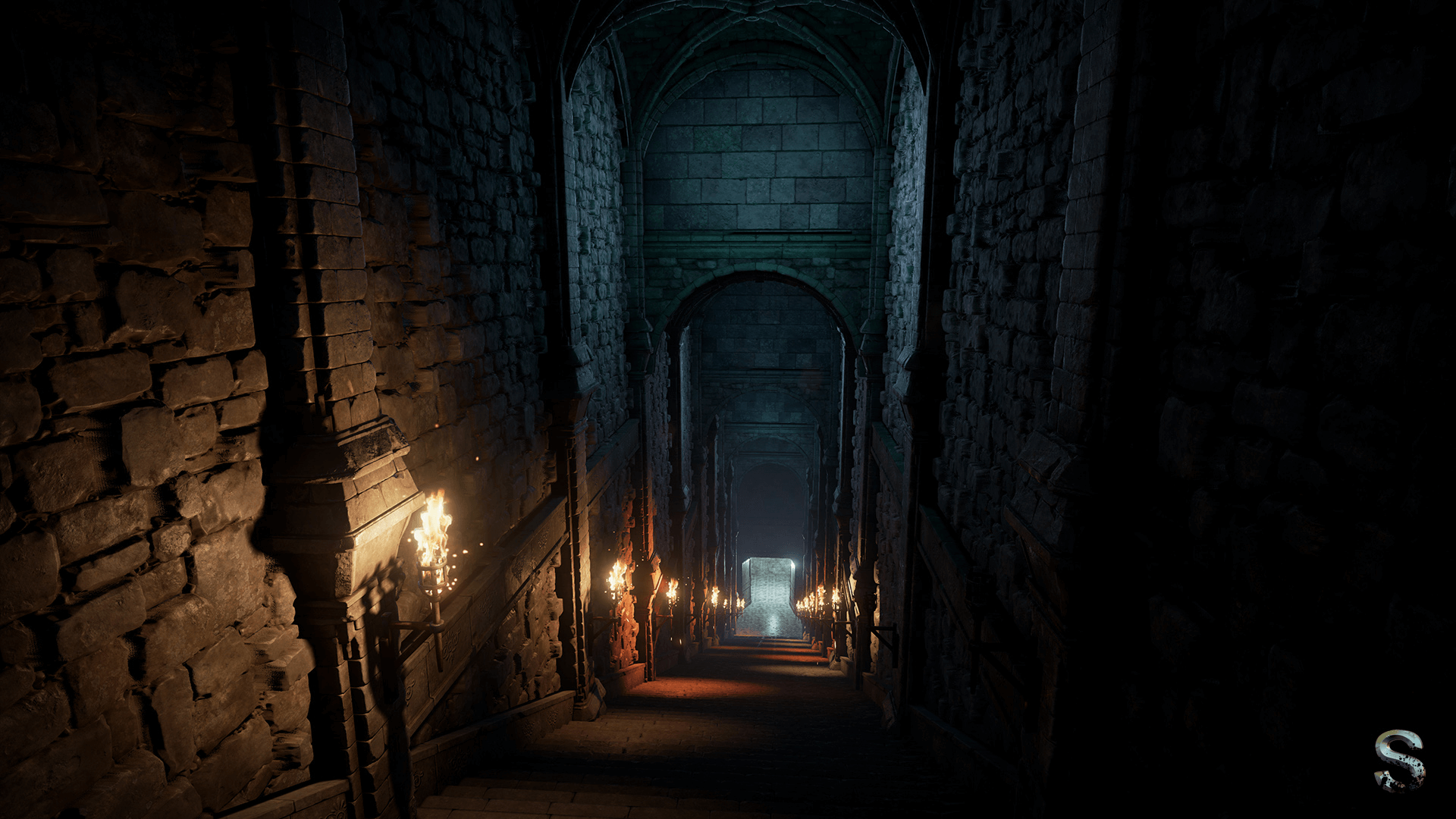 fantasy dungeon by silvertm