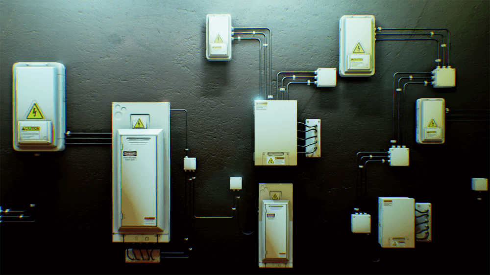 medium resolution of electrical fuse boxes and wires pack by matima studio in props ue4 marketplace