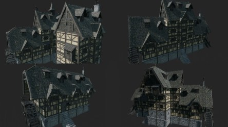 Medieval Fantasy Town Houses 1 1 in Environments UE Marketplace