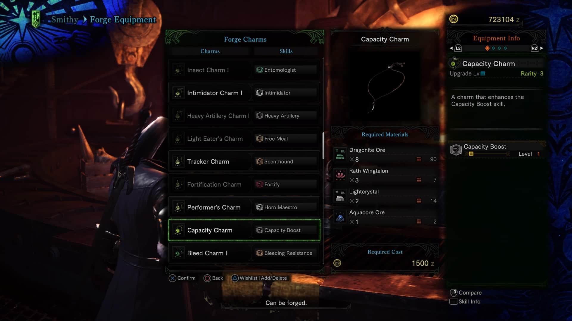 Monster Hunter World Charge Blade - Capacity Charm