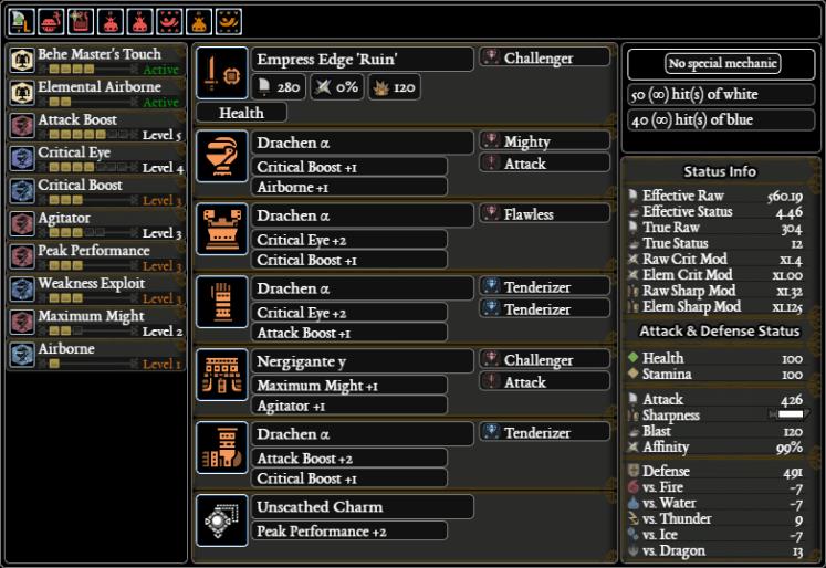 MHW SnS Meta Builds
