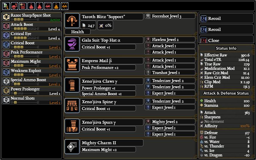MHW Light Bowgun Builds
