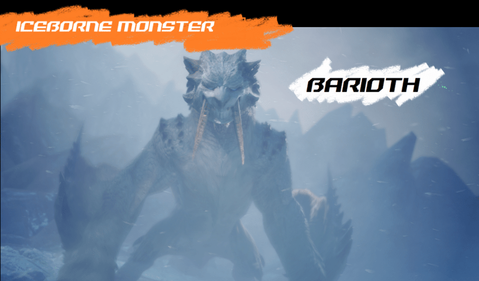 MHW Iceborne Monsters Guide – Barioth