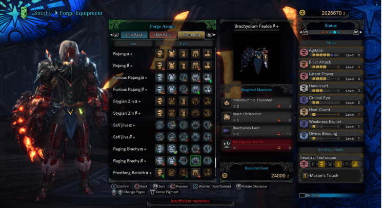 Raging Brachydios Armor + Teostra