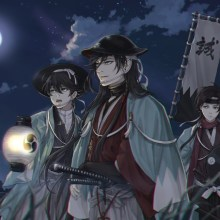 Shinsengumi Prepare To Attack In The Moonlight