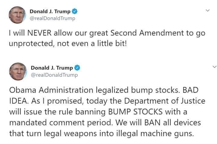 President Trump's bump stock hypocrisy.