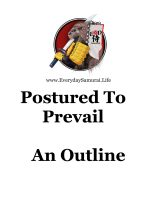 Postured To Prevail Cover