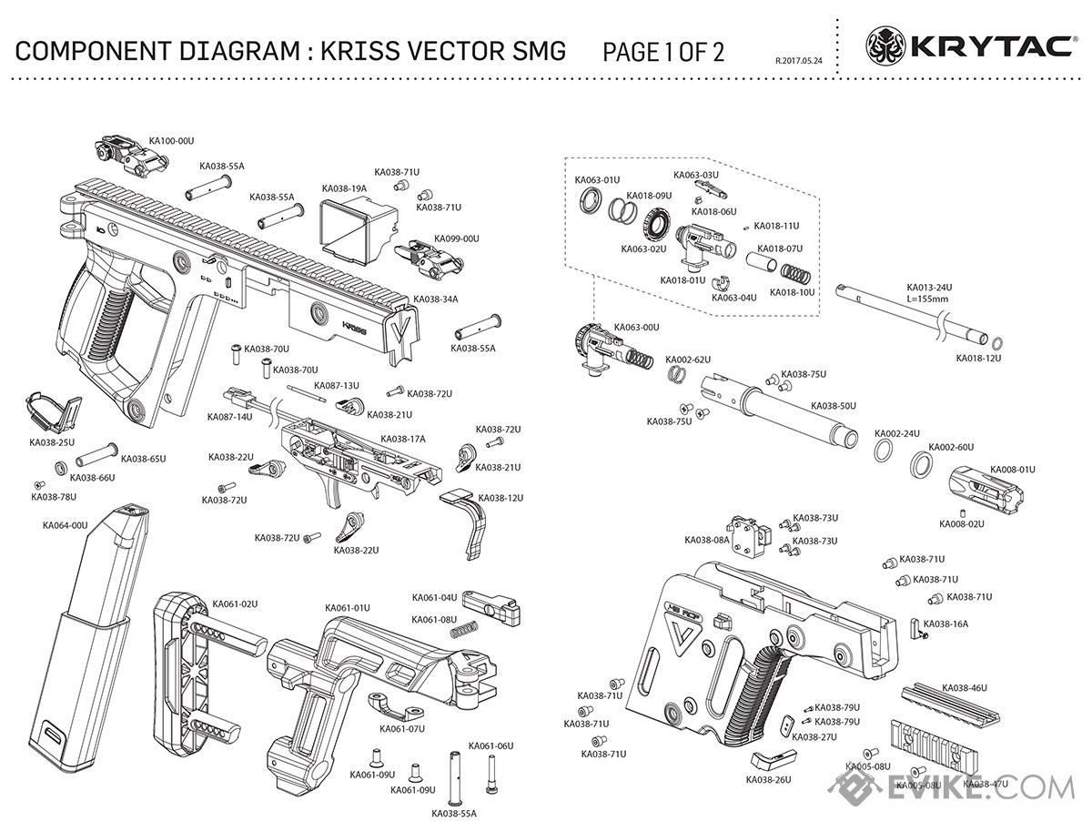 savage model 110 parts diagram surround sound wiring kriss usa licensed vector airsoft aeg smg rifle by krytac diagrams page 1