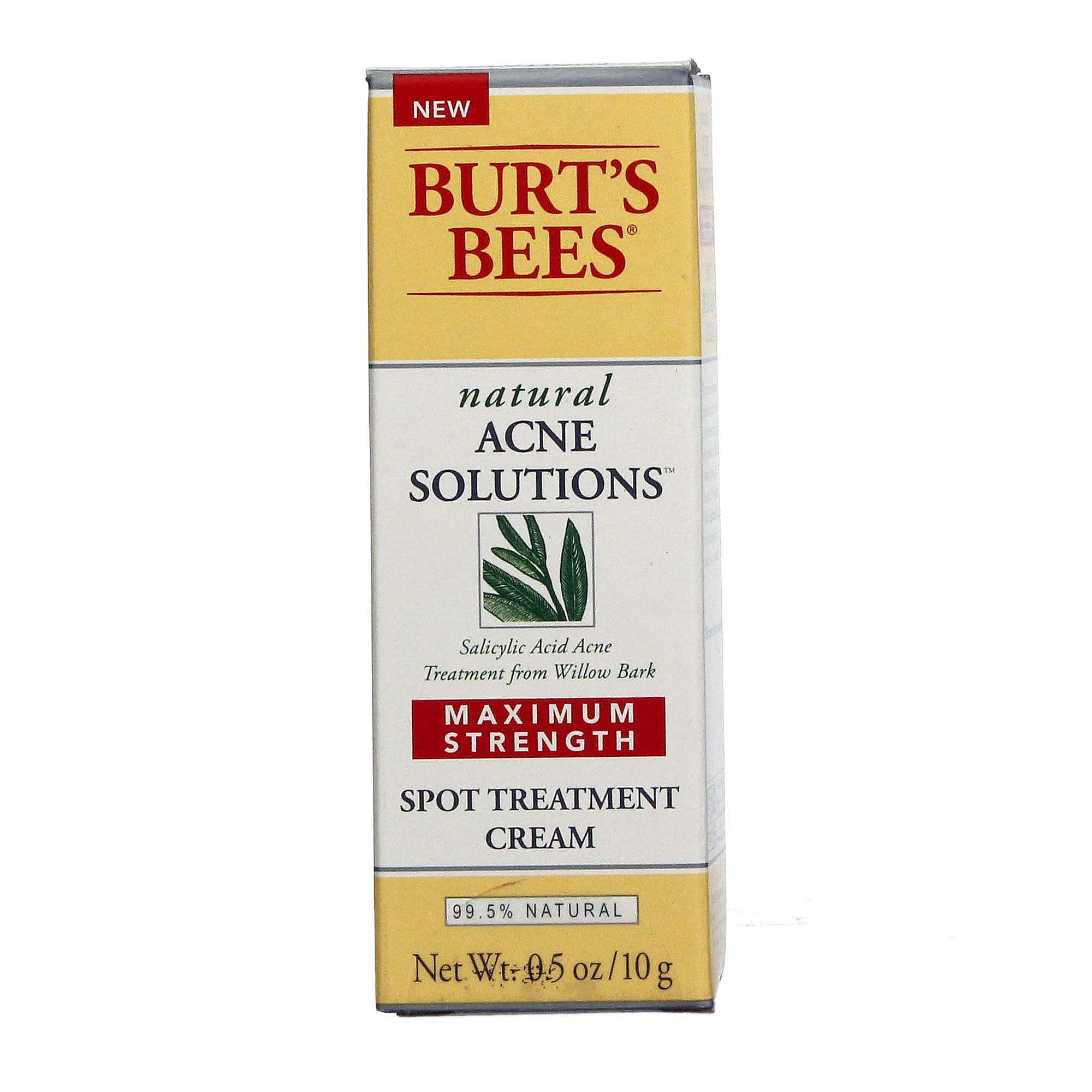 Buy Burt's Bees Natural Acne Solutions Maximum Strength Spot Treatment Cream - 0.5 oz Hong Kong