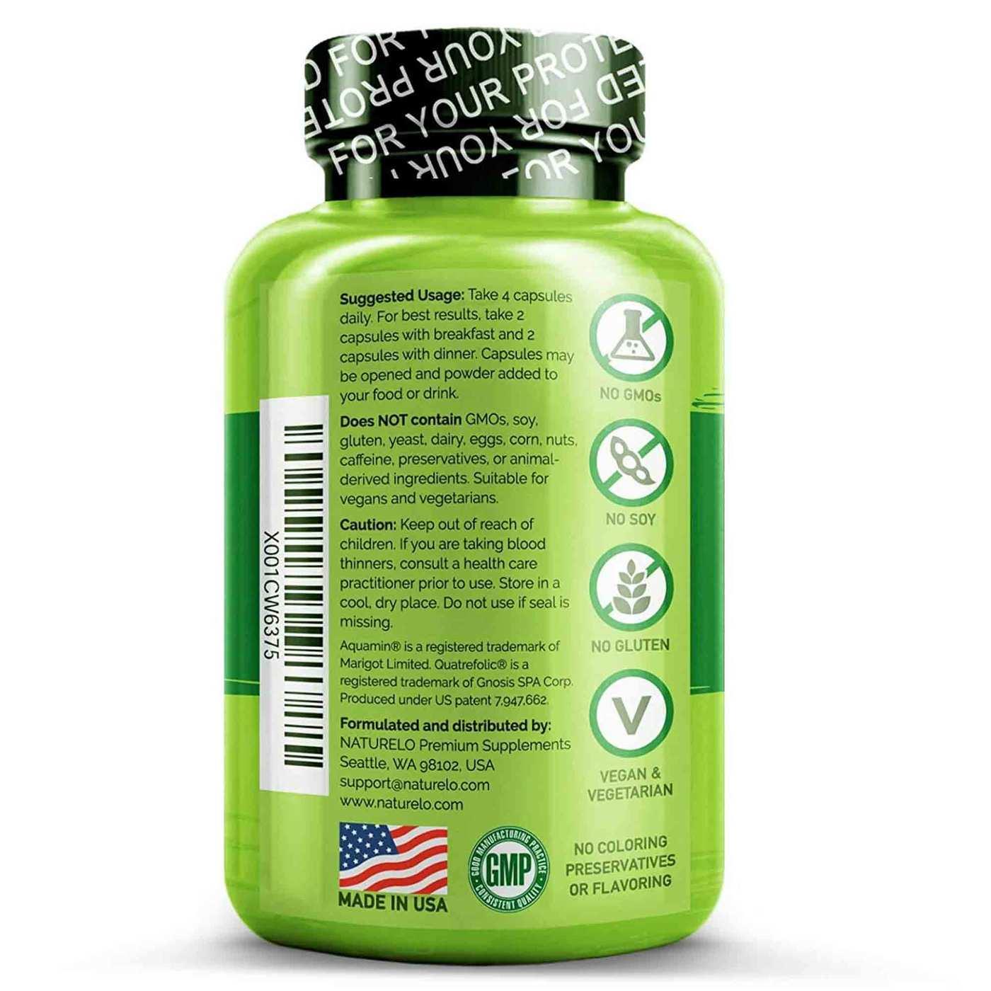 NATURELO Whole Food Multivitamin for Women Iron Free - 120 ...