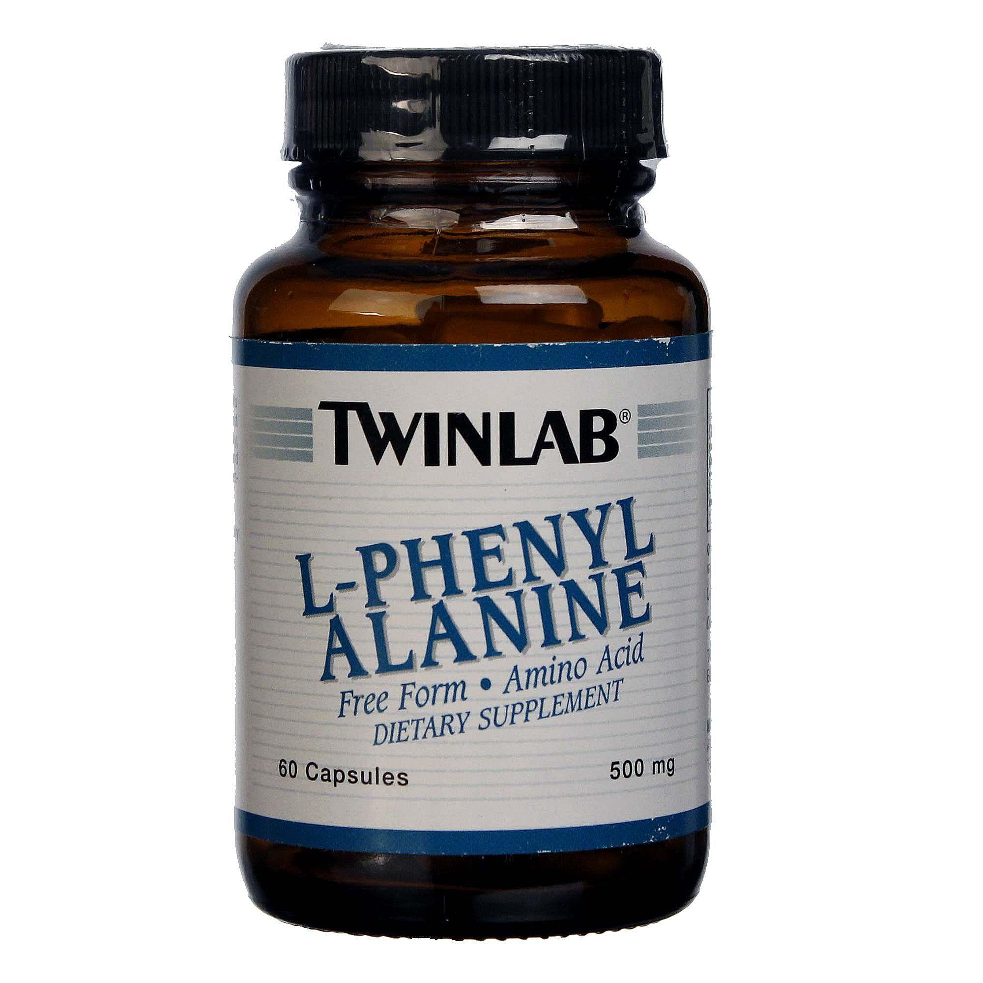 Twinlab L-Phenylalanine 500 mg - 60 Capsules - eVitamins.com