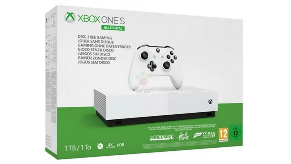 Xbox One S All Digital Microsoft S Disc Less Console Is