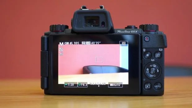 Canon G5 X back
