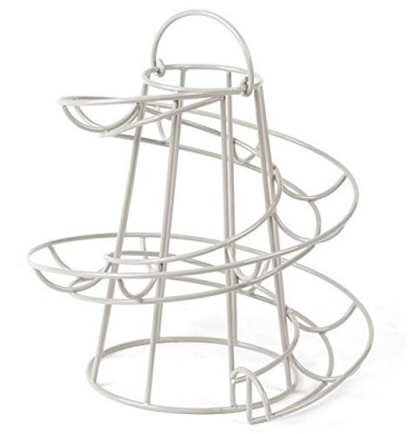 Wire Egg Run Cream, Egg Holder with Handle. by Home Treats