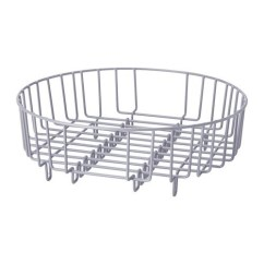 Kitchen Drainer Basket Tile For Countertops Heavy Duty Steel 37cm Dia Round 2 In 1 Dish Rinsing Silver Fit All Most Domestic Commercial Sinks By Verdi Shop Online