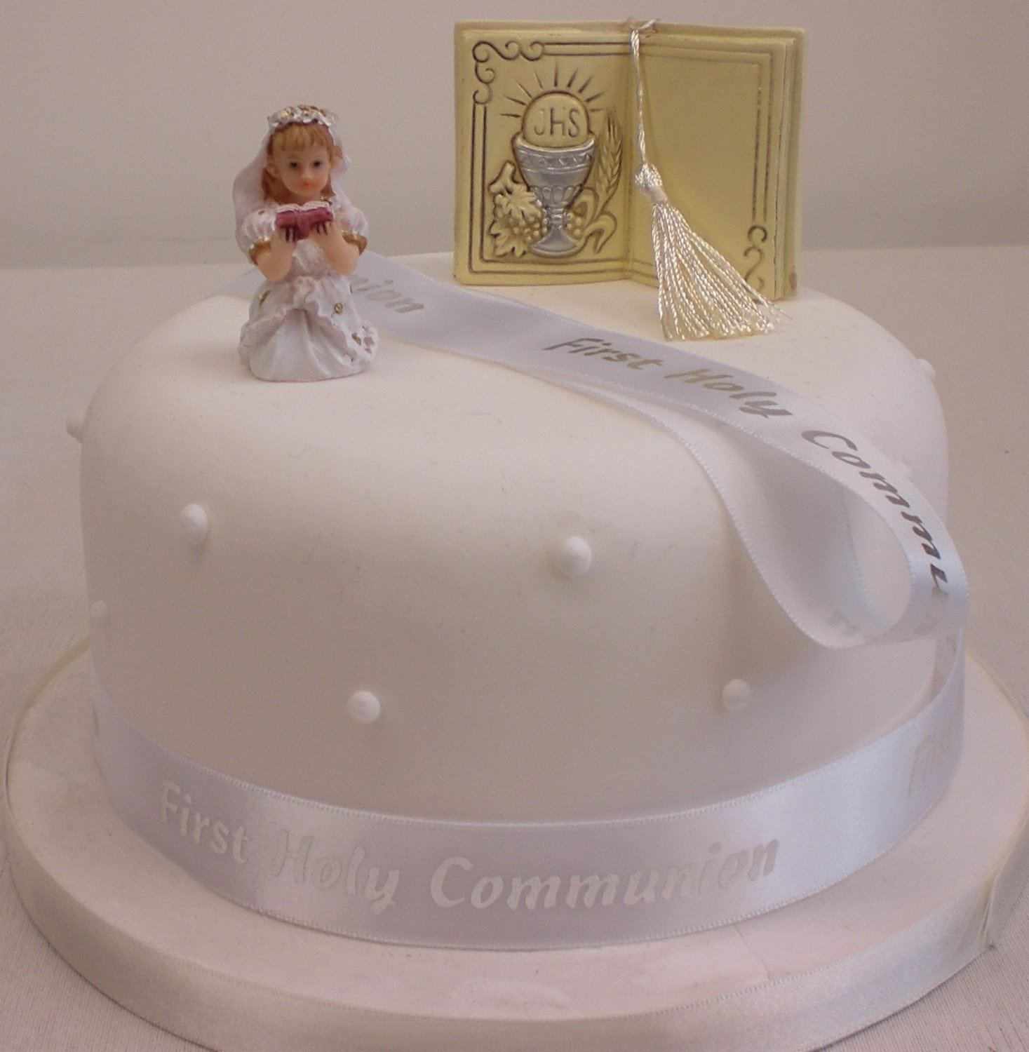 1st First Holy Communion Girl Or Boy Bible Ribbon Cake Topper