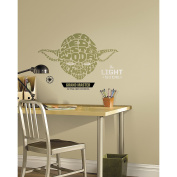 Roommates Star Wars Typographic Yoda L And Stick Giant Wall Decals