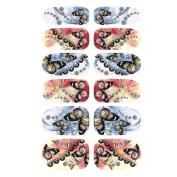 1 Sheet Embossed 3d Nail Stickers Blooming Flower Art Decals Bp049