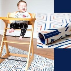 High Chair Floor Mat Nz Wood Toddler Table And Chairs Mess Mats Navy Copper Splash Baby Feeding Solid Durable Designer Reversible Protector Waterproof