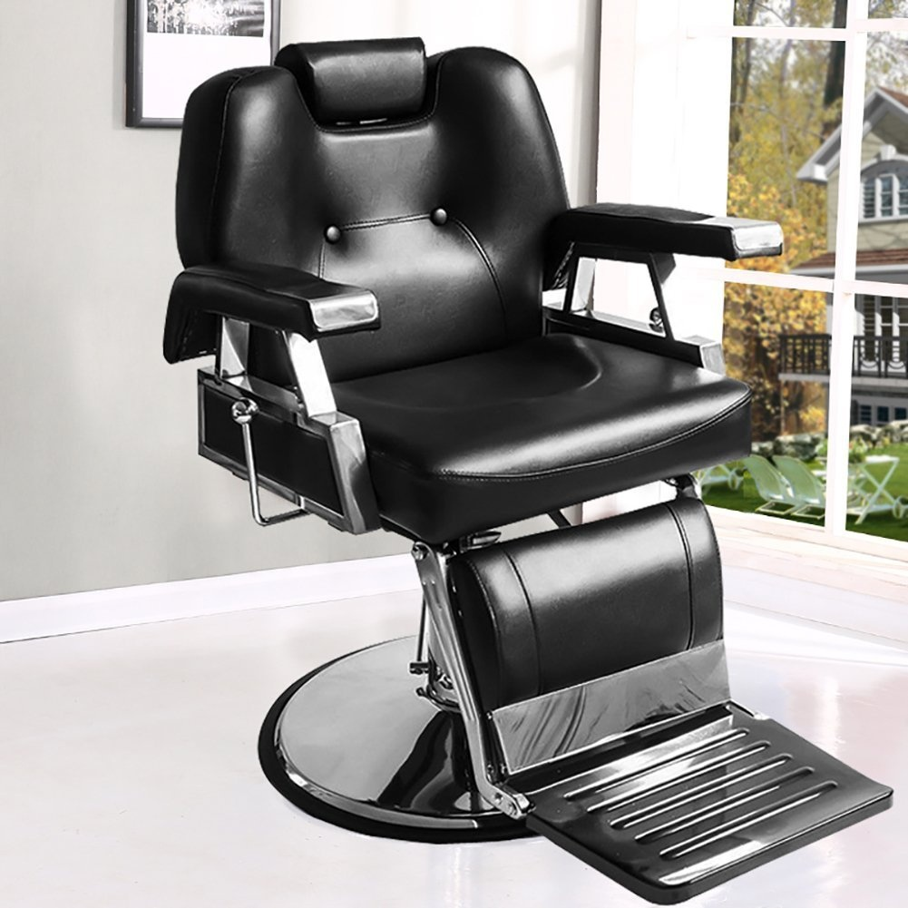 white barber chair uk wedding covers telford tuff concepts adjustable quilted leather salon stool beauty hairdressing