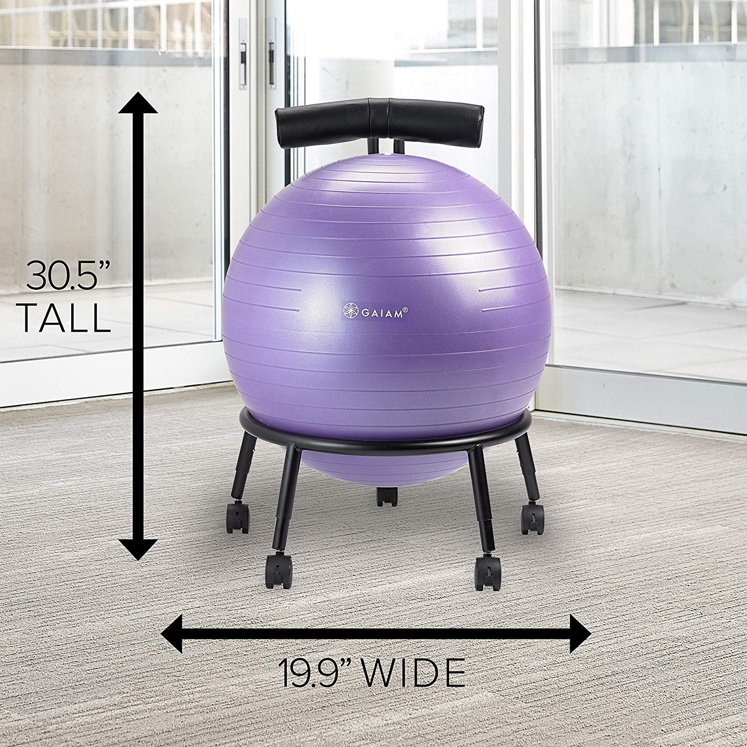 Exercise Ball Desk Chair Gaiam Adjustable Custom Fit Balance Ball Chair Stability Ball Desk Chair With 55cm Yoga Ball Inflation Pump And Exercise Guide For Home Or Office