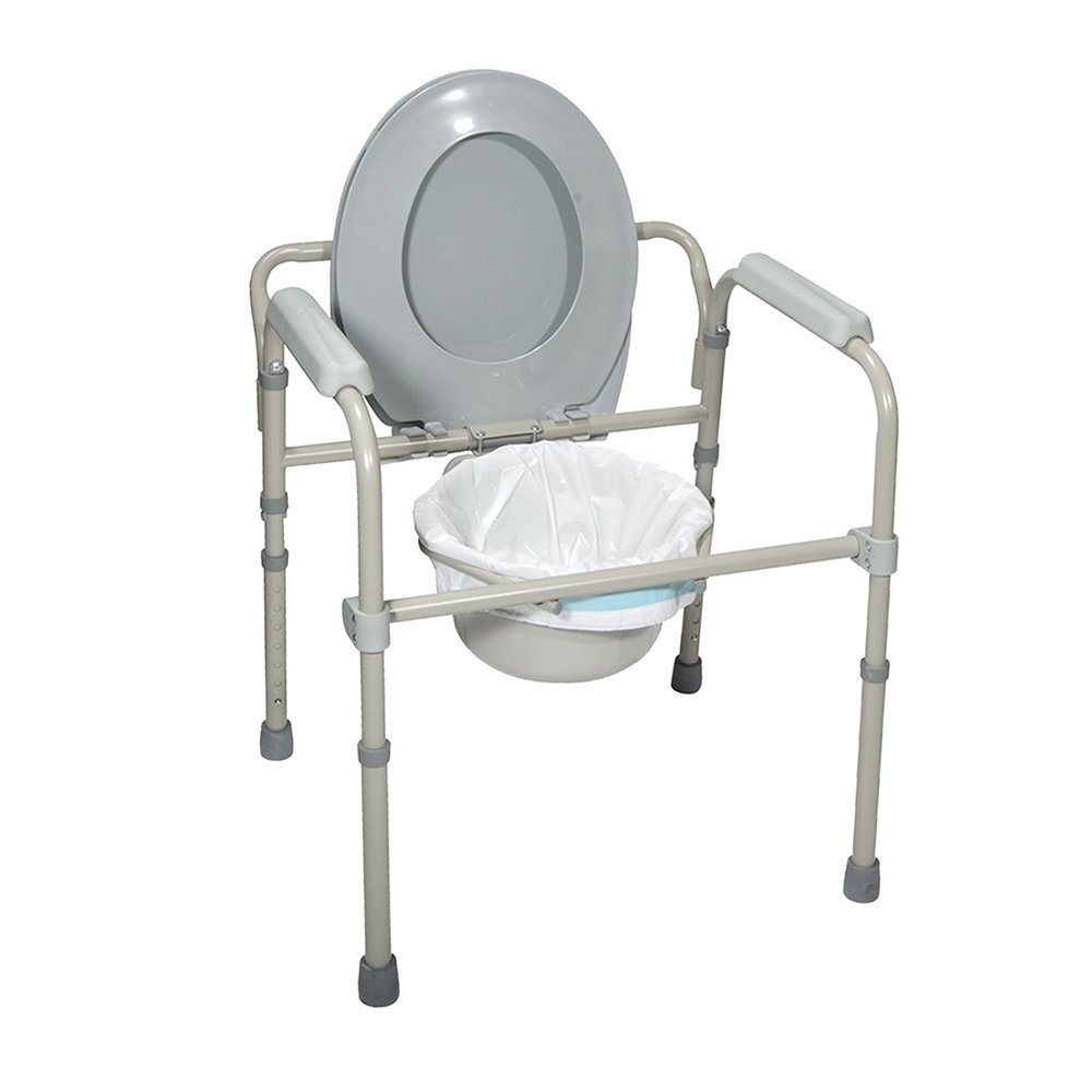 Bedside Commode Chair Sanicare Commode Liners Value Pack 50 Disposable Bedside Commode Liners Adult Commode Chair Liners Universal Commode Pail Liners