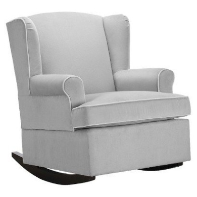best rocking chairs for nursery acrylic vanity chair eddie bauer® wingback upholstered rocker - grey comfortable ...
