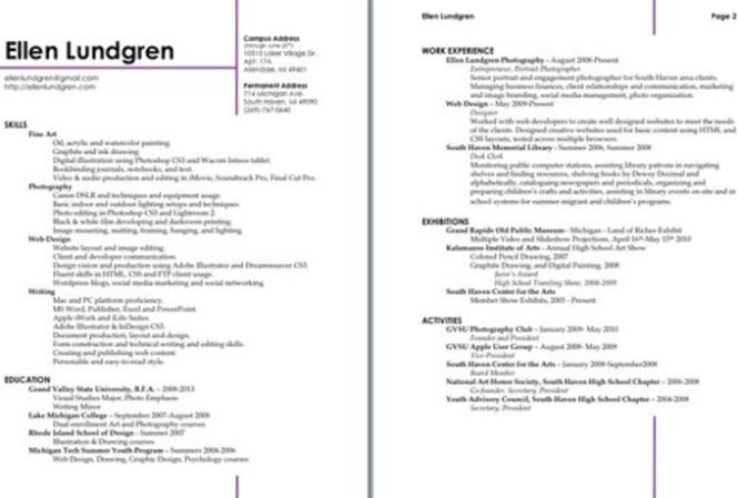 How To Make A Resume Look Professional - Resume Sample