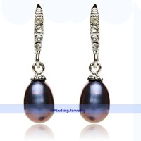 Genuine Freshwater Pearl & Swarovski Crystal Drop Earrings ...