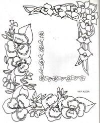 Dibujos de guardas de flores