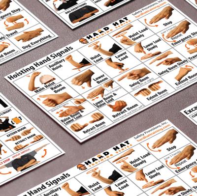 hand signal cards crane