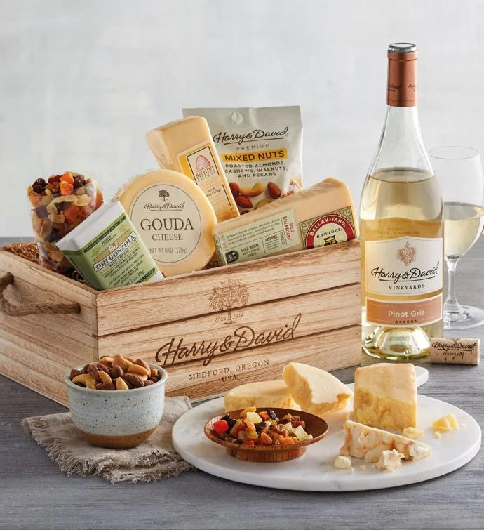 Gourmet Cheese Gift With Wine Wine Gifts Harry Amp David
