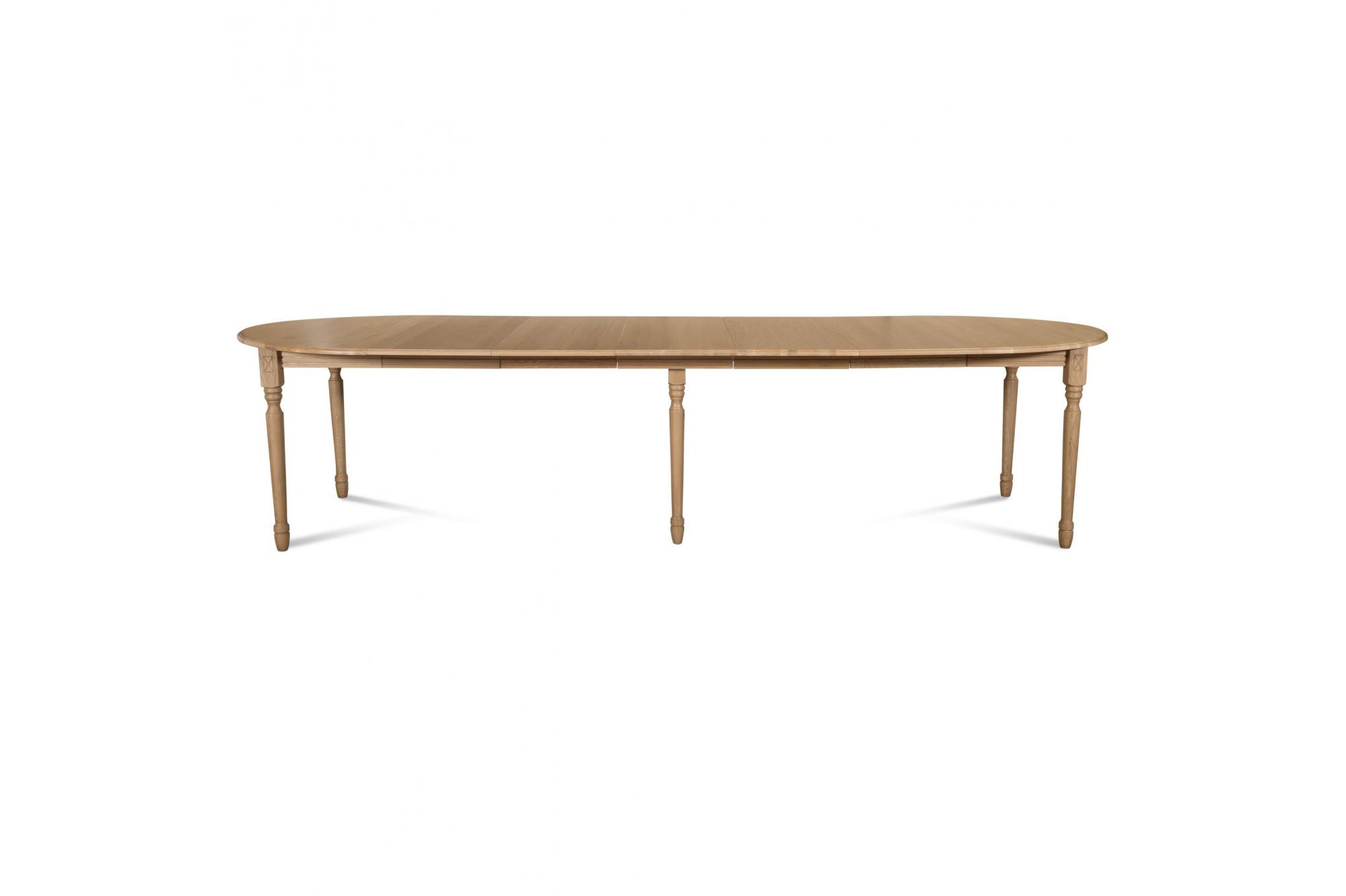 table ronde victoria 6 pieds tournes d105 3 rallonges bois