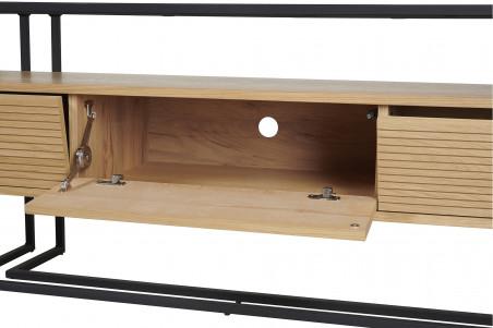 meuble tv en bois et metal raynart brighton
