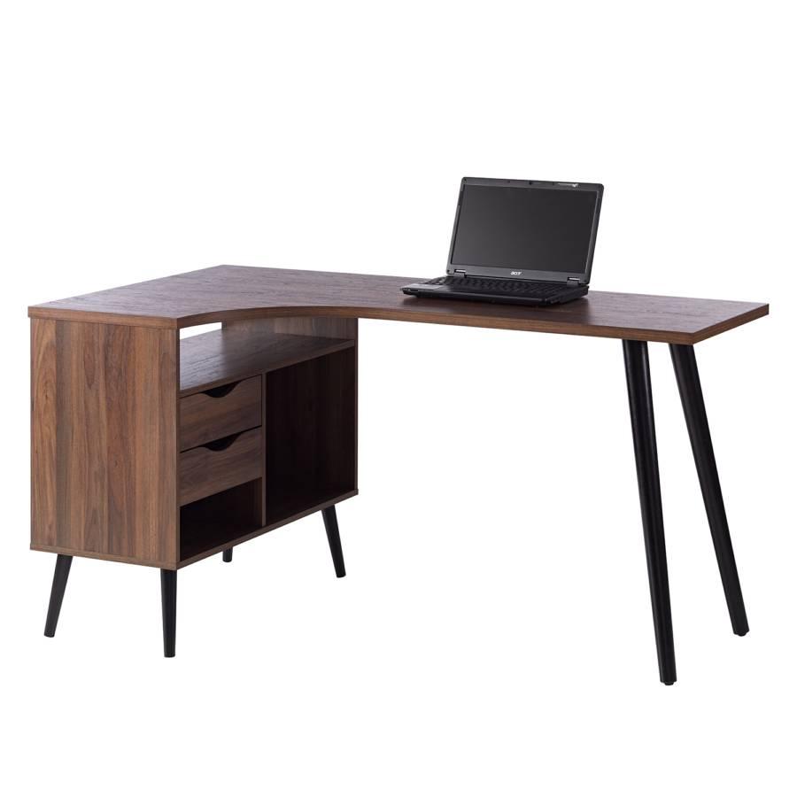 Eckschreibtisch Walnuss Schreibtisch Nussbaum Schwarz Full Size Of