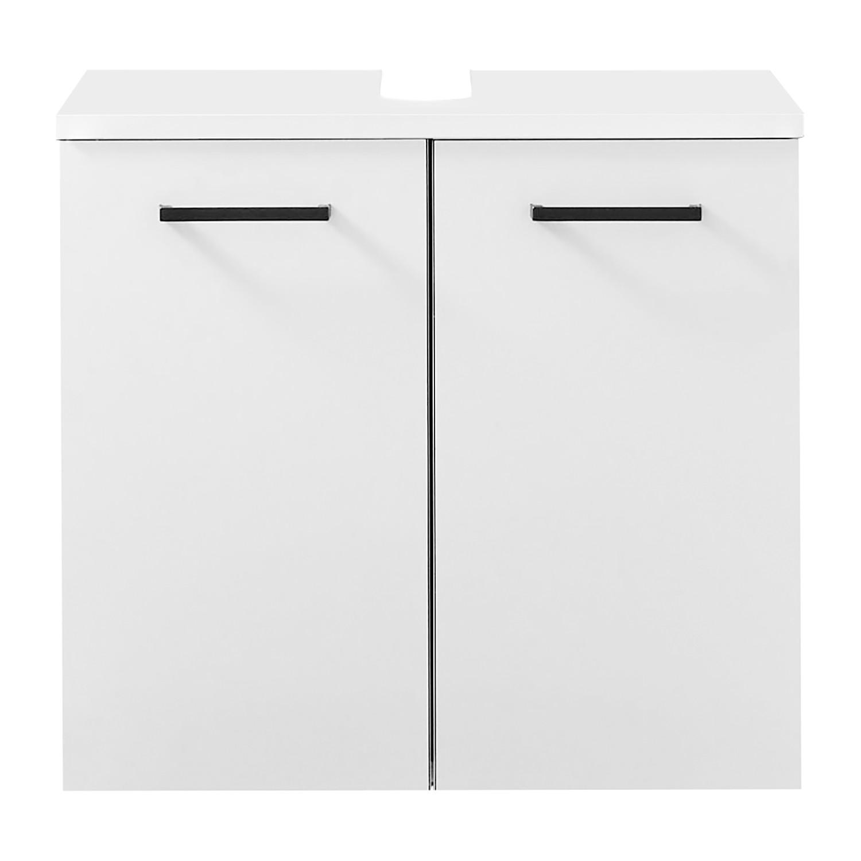 Waschbeckenunterschrank BELGRAD - Weiß / Schwarz