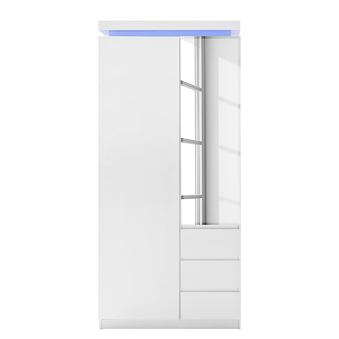 Garderobenschrank EMBLAZE - Hochglanz Weiß