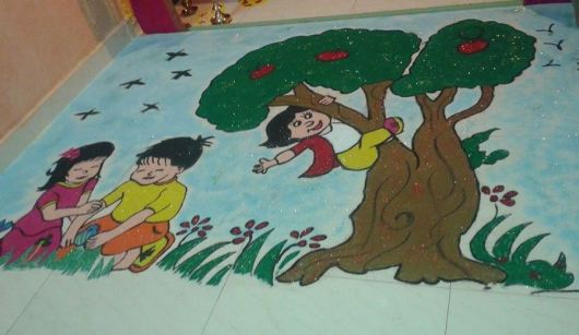 Competition Rangoli Design for Diwali