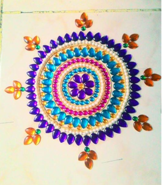 Kundan Rangoli Designs Simple