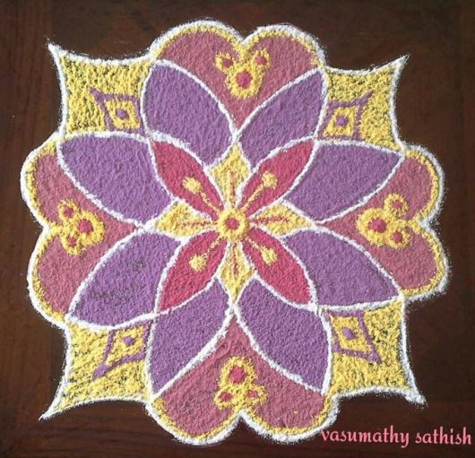 Easy Rangoli Designs with Dots