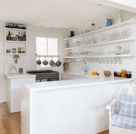 Simple U-Shaped Kitchen Design for Very Small House
