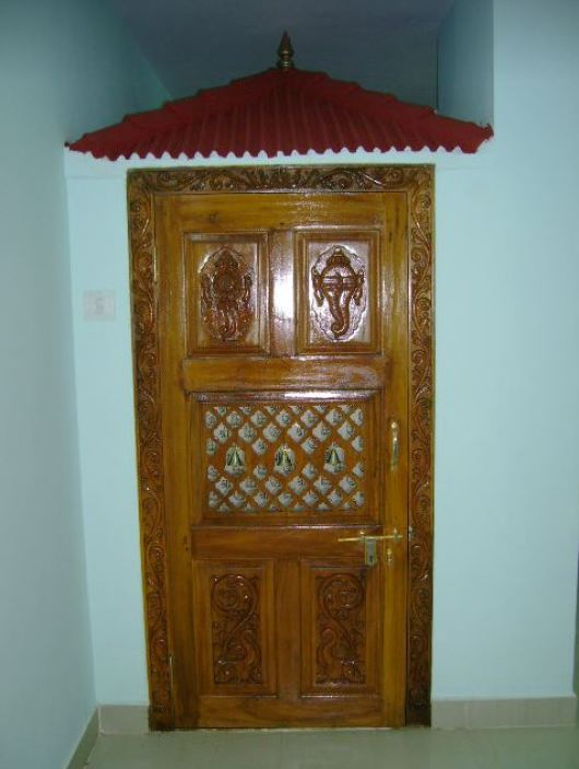 Pooja Room Door Designs in Wood