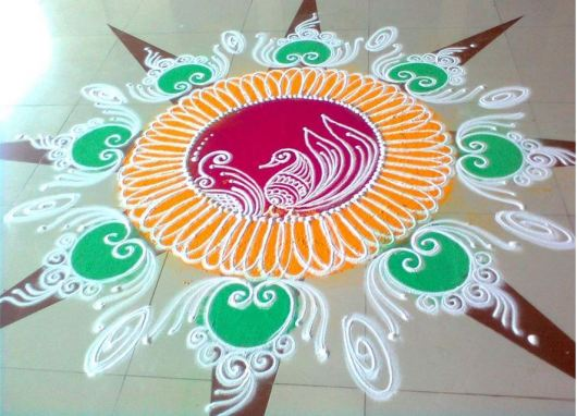 Beautiful Sanskar Bharti Rangoli Designs