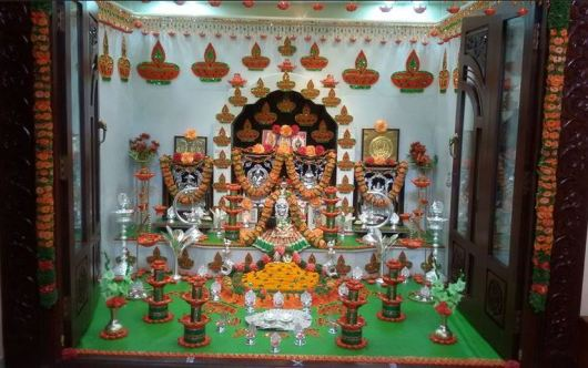 Pooja Room Decoration Ideas for Varalakshmi Vrata