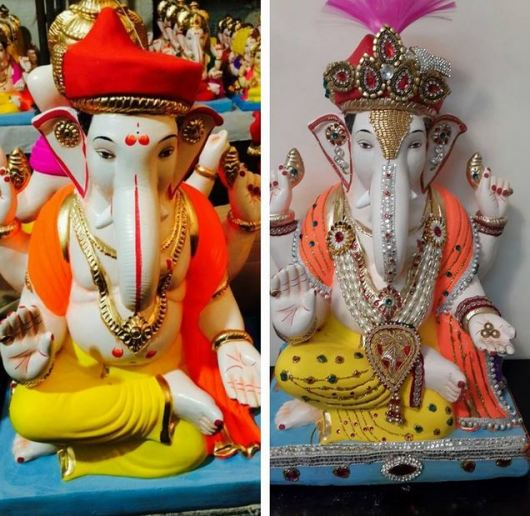 Ganesh Idol Decoration at Home