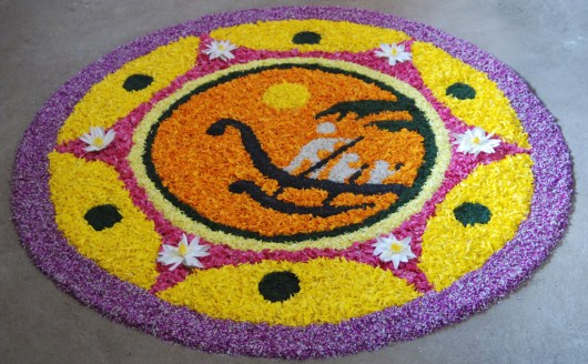 Onam Flower Rangoli Designs