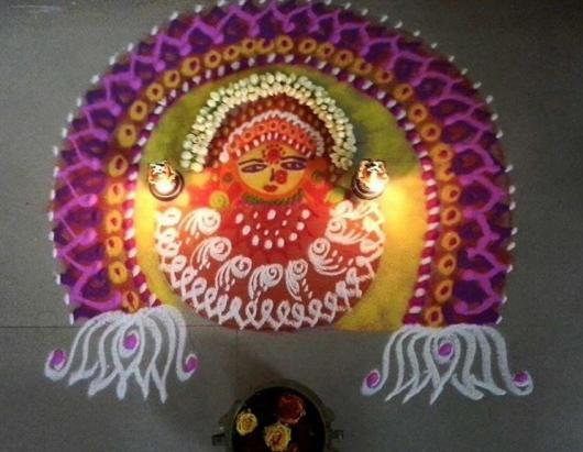 Kolam Rangoli Designs for Dussehra