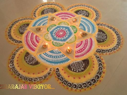 Freehand Kolam Rangoli Designs